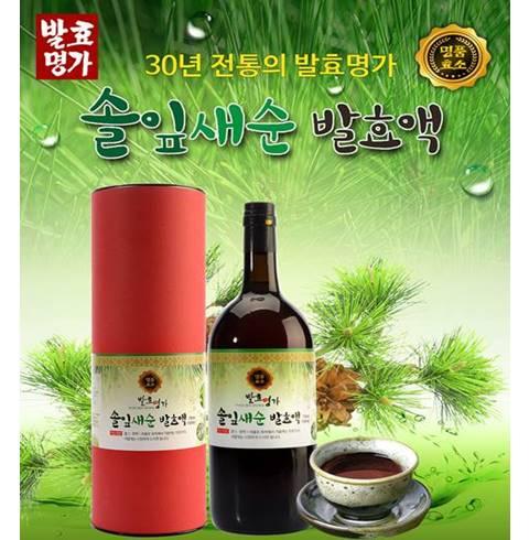 산야초 발효액 750ml/솔잎새순 발효액